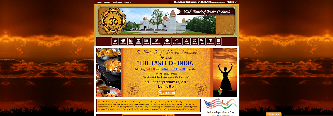 hindu_temple_banner_header_web_design_custom_website